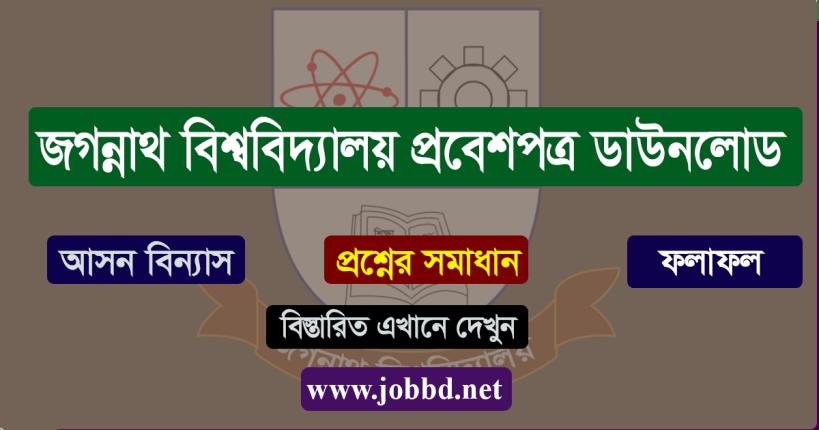 Jagannath University Admit Card Download 2020-21 | JNU Seat plan & Result