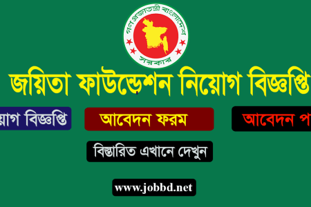 Joyeeta Foundation Job Circular 2019 Application Process