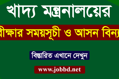 Ministry of Food Exam Date 2018 & Seat Plan  | www.mofood.gov.bd