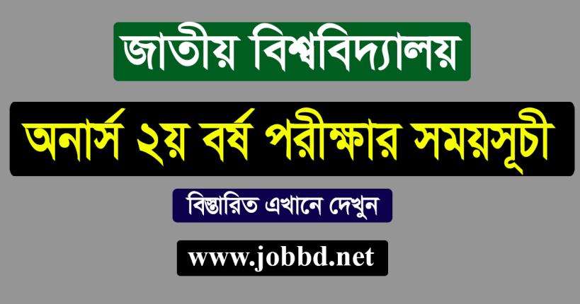 NU Honours 2nd Year Exam Routine 2020 – www.nu.edu.bd