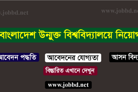 Bangladesh Open University Job Circular 2018 – bou.edu.bd