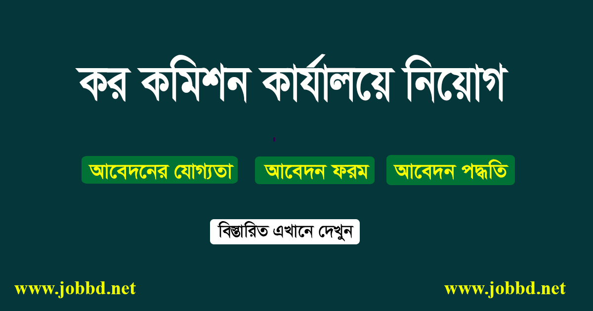 Chittagong Vat Commissioner Office Job Circular 2019