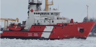 Canadian Coast Guard Busting Ice