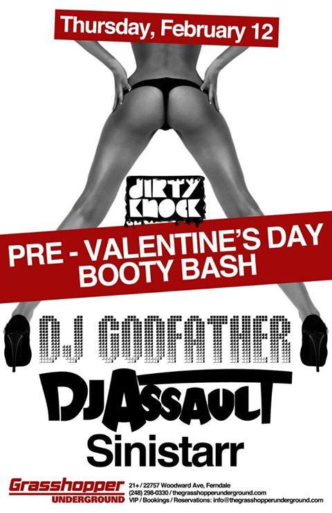 DJ Assault @ Grasshopper Underground (Thursday, February 12th, 2015) Ferndale