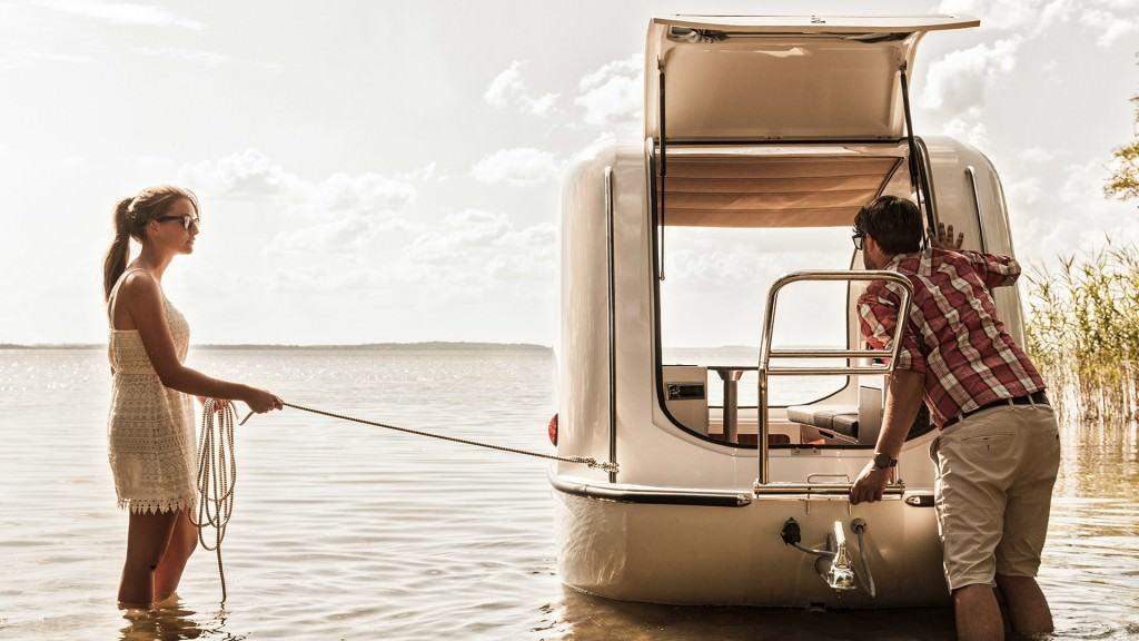 Part Boat part trailer