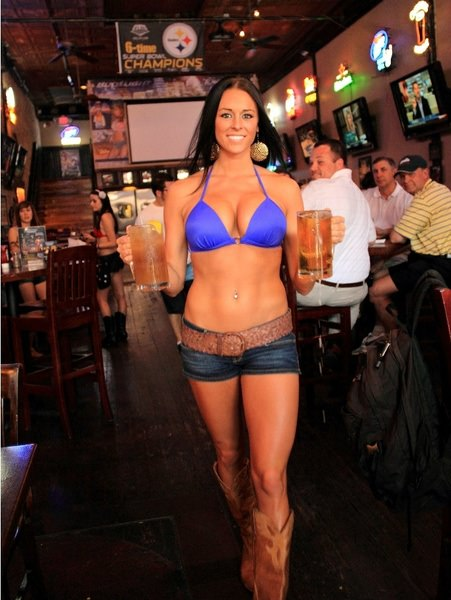Busty Bar Girls