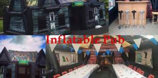 Portable inflateable pub