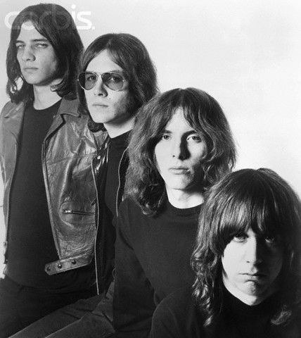 1969, Hollywood, Los Angeles, California, USA --- L-R: Scott Asheton, Ron Asheton, Dave Alexander, Iggy Pop (born James Osterberg, Jr.). --- Image by © Michael Ochs Archives/Corbis