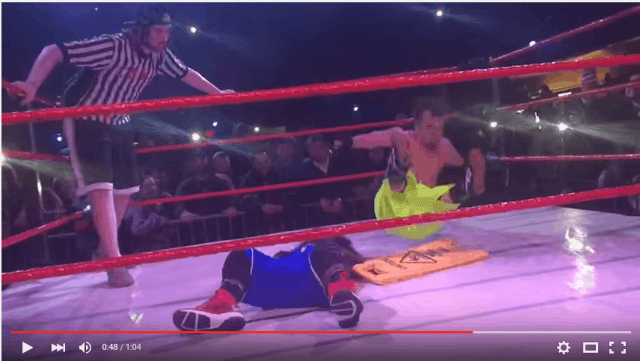 Check out this video for the Extreme Midget Wrestling