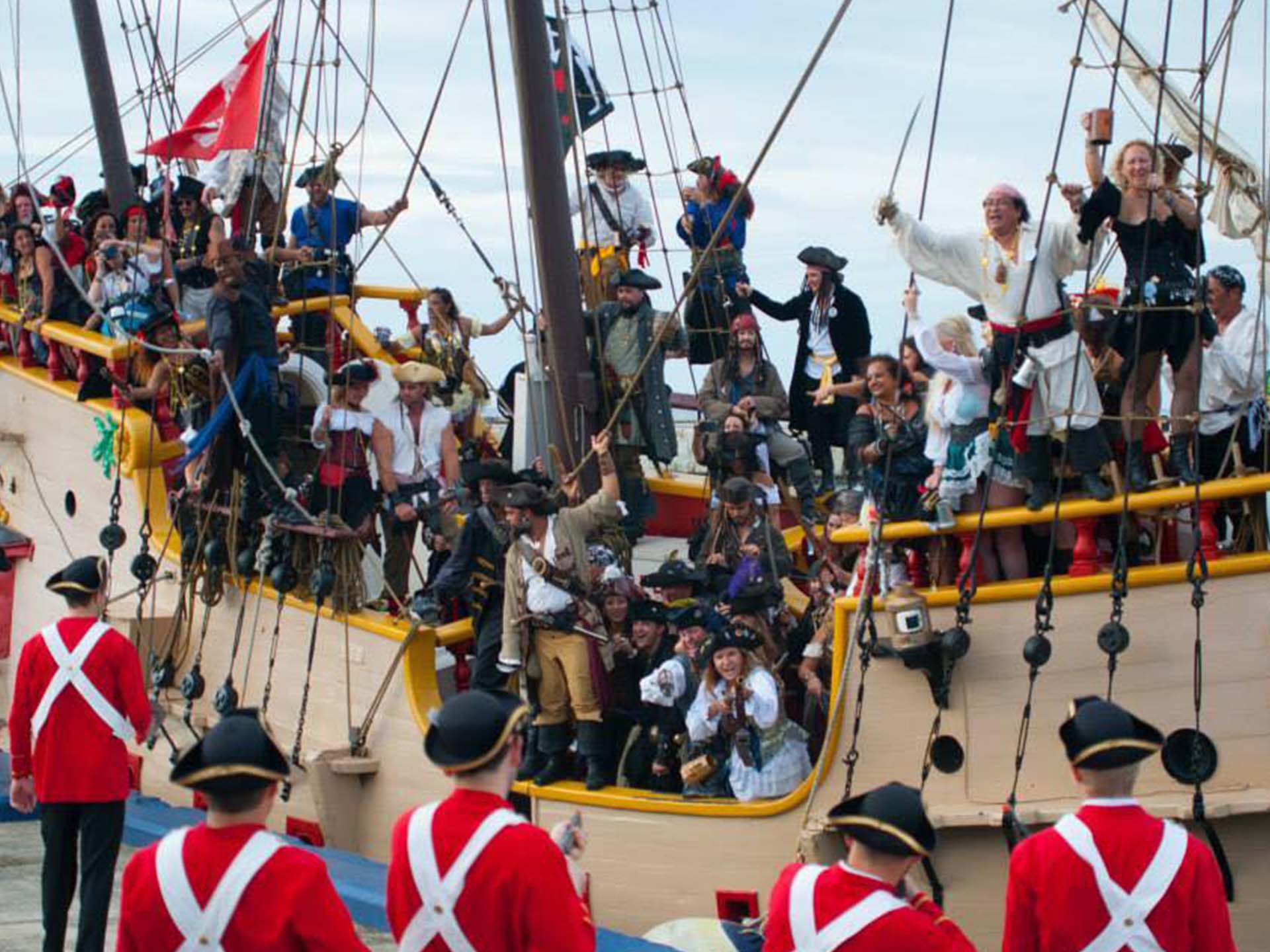 Take A Cruise On The Jolly Roger Pirate Ship Of The Cayman Islands - Pirate ship booze cruise