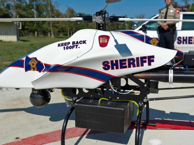 $500,000 ShadowHawk, one of the first drone-style helicopters launched by a police force in the US to fight crime.