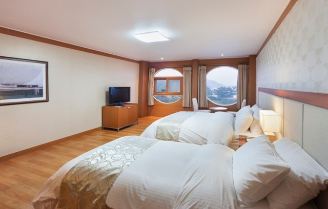 Family Standard room 200,000 won ($175.00 usd) a night