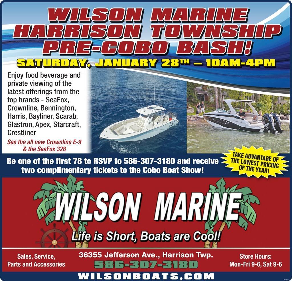 Wilson Marine Pre-Cobo Bash