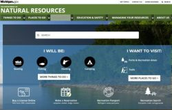 New Michigan.gov DNR site