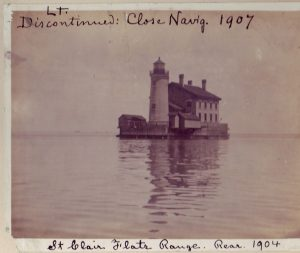 Rear of the St Clair Flats Range Light 1904 Photo - US Coast Guard