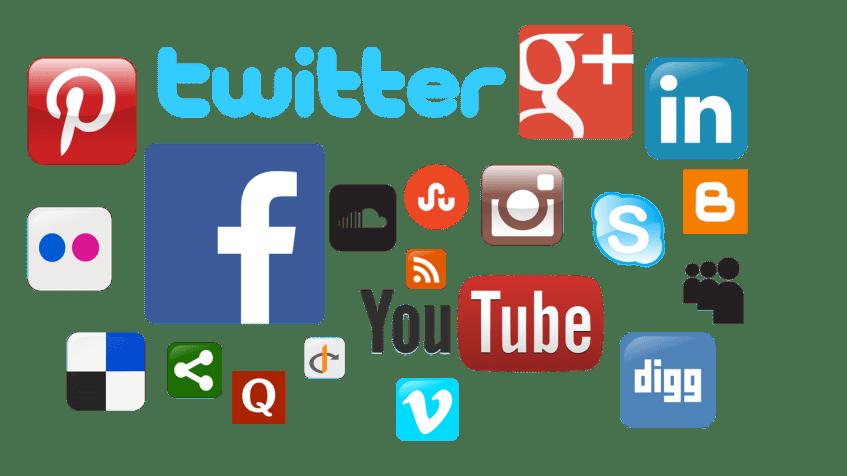 Sosiale medier ikoner