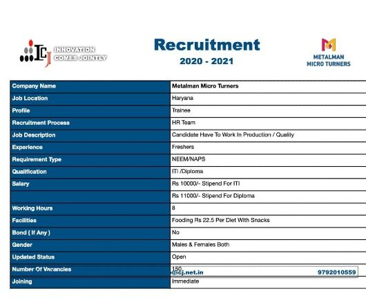 ITI And Diploma Campus Interview