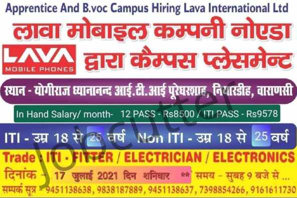 ITI Electrician / Fitter / Electronics Campus Placement