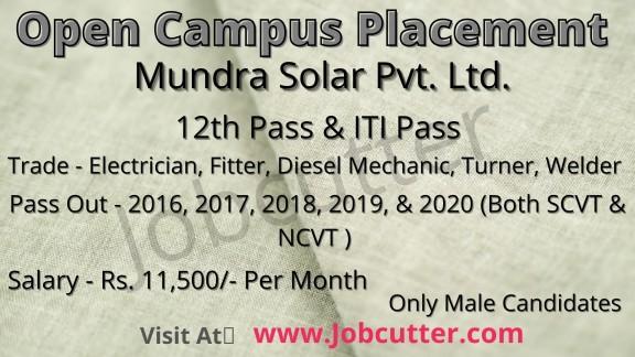 Open Campus Placement at Satpuda Pvt ITI