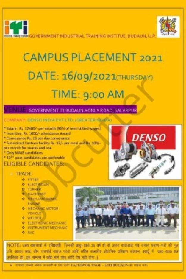 ITI Campus Placement At Govt ITI Budaun 2021