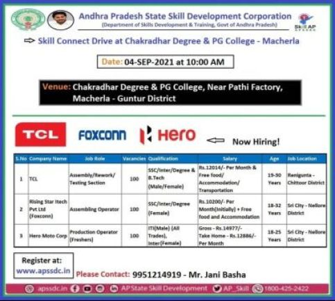3 Company Campus Placement At Chakradhar Degree PG College