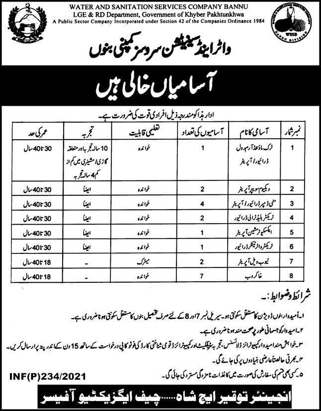 WSSC Jobs 2021 Water and Sanitation Services Company Jobs