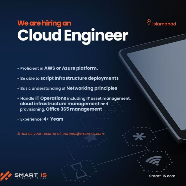Cloud Engineer Job in Islamabad at Smart IS Pakistan