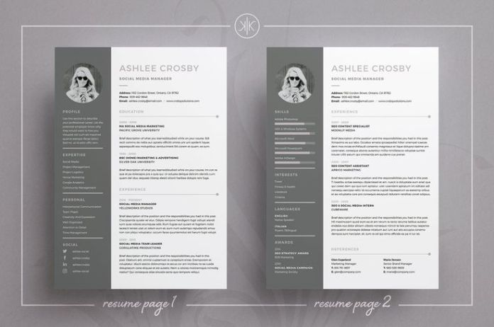 Resume : Resume/CV | Ashlee by Keke Resume Boutique on Creative ...