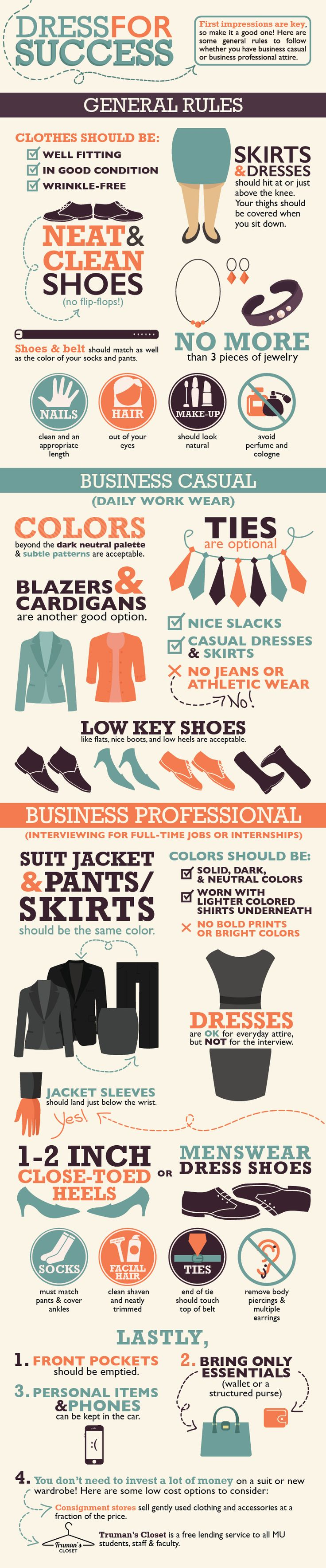 infographic : Dress for Success - JobLoving.com | Your Number One Source For daily job opportunities