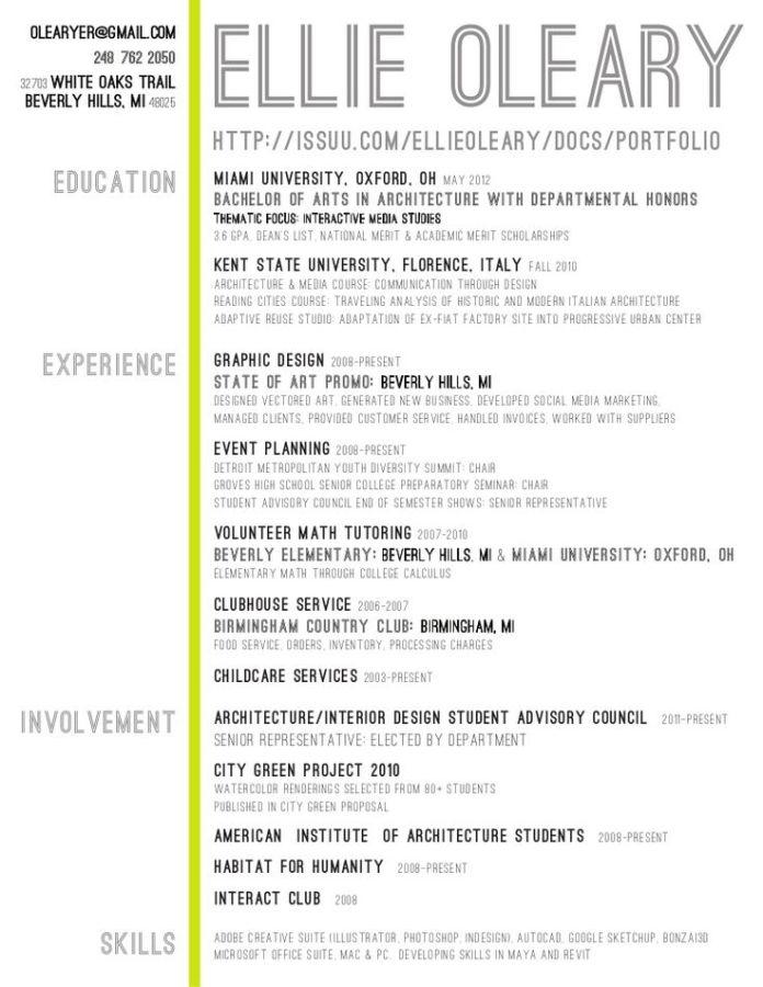 infographic : interior design resume - Google Search ... - JobLoving ...
