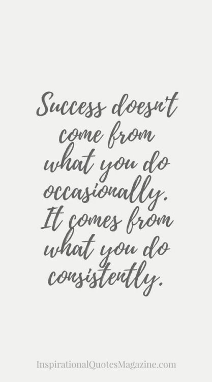 Success Quote : Success doesn't come from what you do