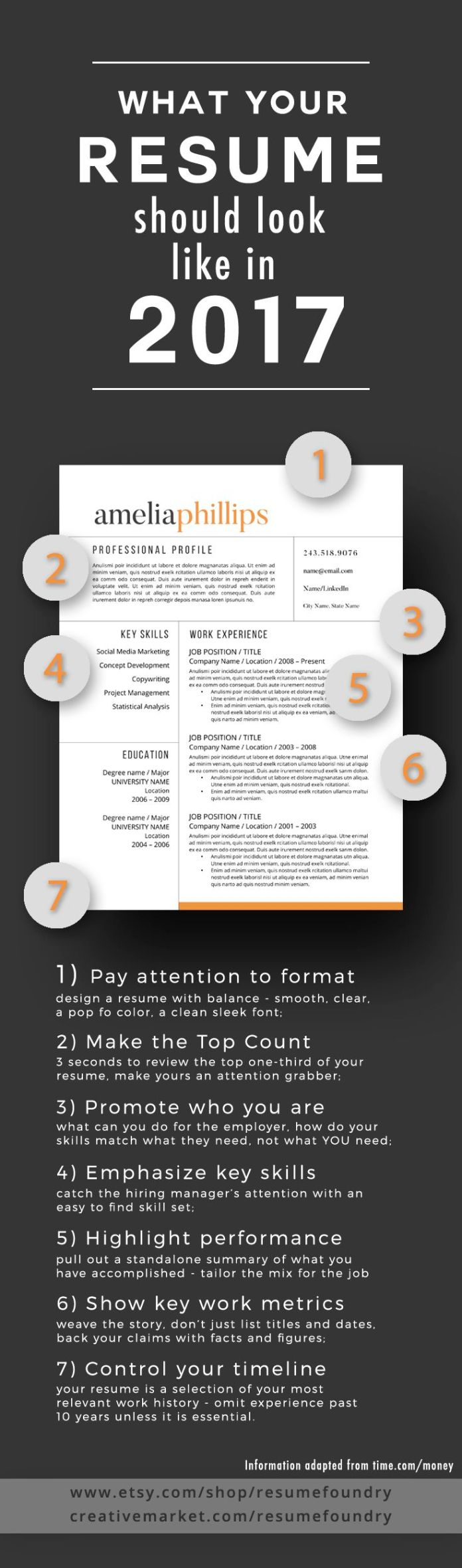 career infographic   7 tips to transform your resume to