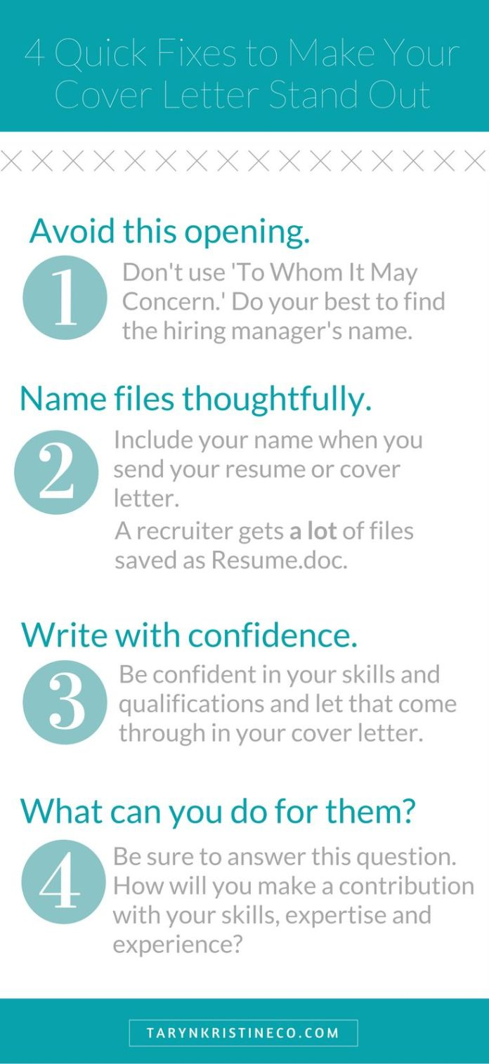 Career infographic these tips will show you how to make for Making a cover letter stand out