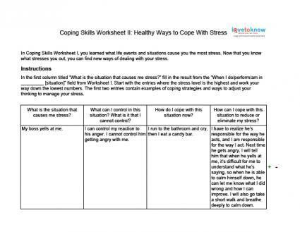 Stress management : Stress management : Coping Skills Worksheets for ...