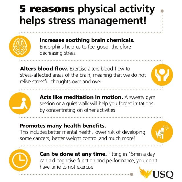 Stress Management 5 Reasons Physical Activity Helps