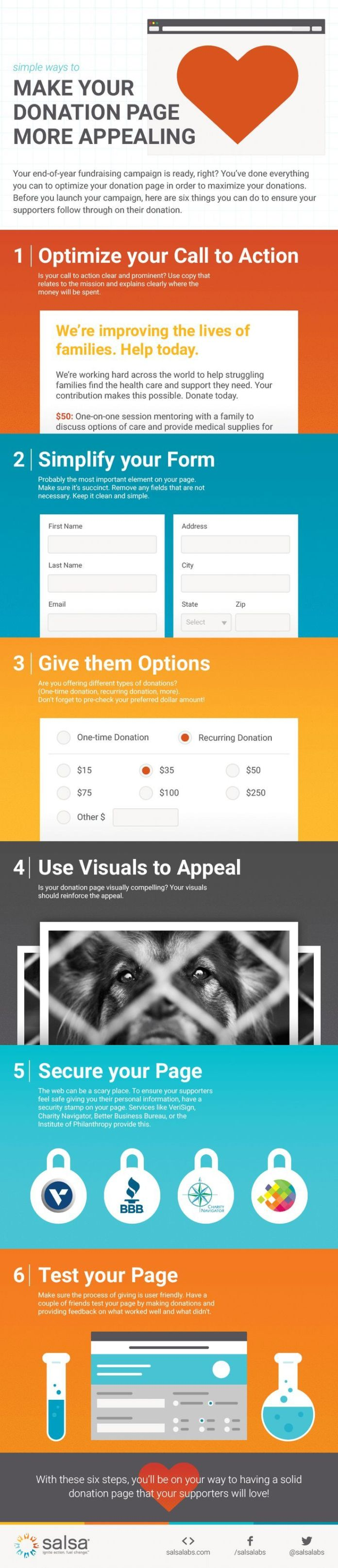 non profit charter template - fundraising infographic make your donation page more