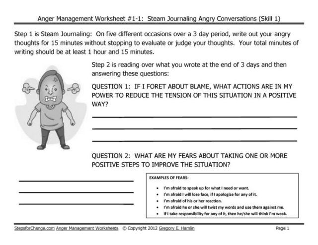 stress management draft skill 1 anger management techniques and worksheets ste
