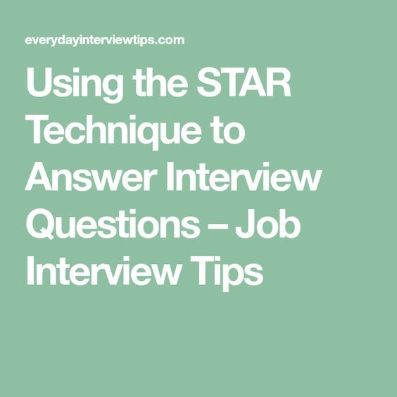 Infographic Using The STAR Technique To Answer Interview Questions