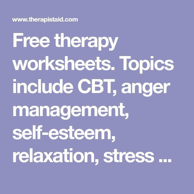 Stress Management Stress Management Free Therapy Worksheets