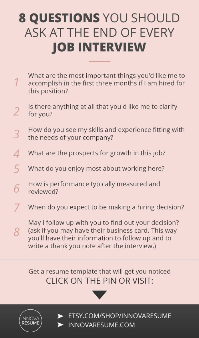 infographic : Career infographic : Questions you should ask at the ...