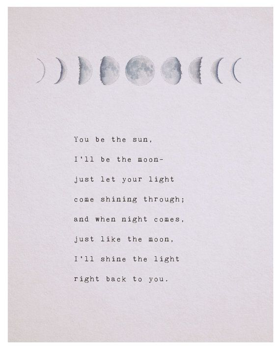 Work Quotes This Poetry Art Features The Phases Of The Moon