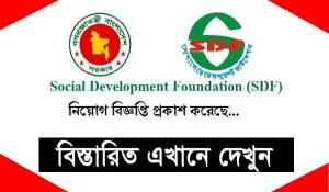 Social Development Foundation SDF Job Circular