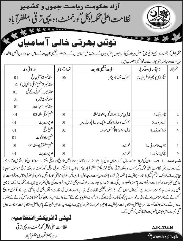 Local Government and Rural Development Muzaffarabad 12