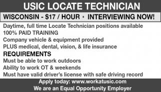 USIC Locate Technician, USIC, Waukesha, WI