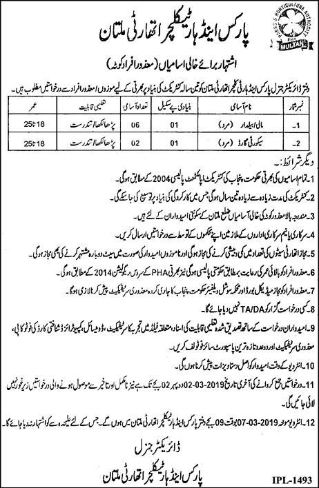Jobs In Parks And Horticulture Authority 17 Feb 2019