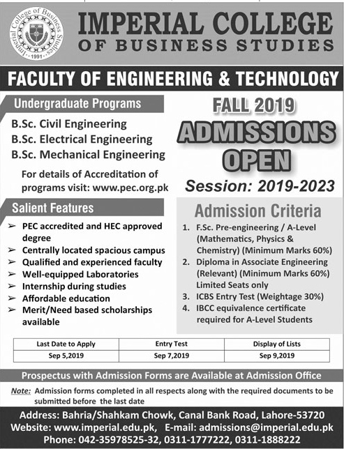 Jobs In Imperial College Of Business Studies 10 Aug 2019