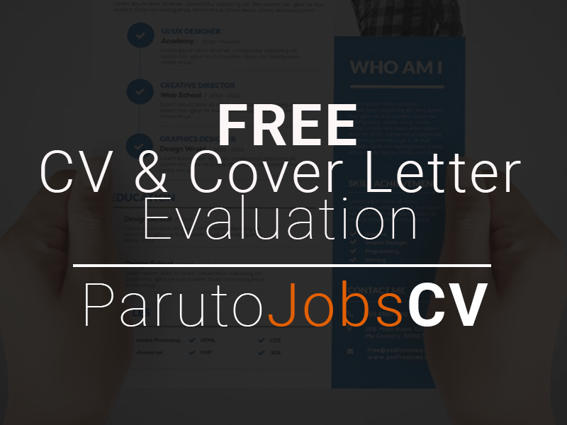 FREE CV and Cover Letter Evaluation