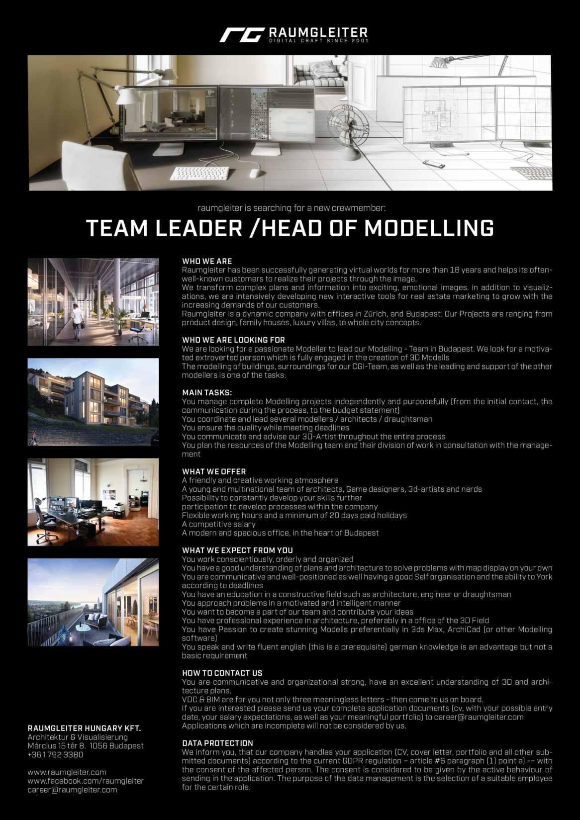 TEAM LEADER /head of modelling