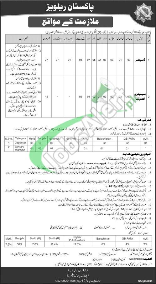 Pakistan Railway Jobs November 2015 NTS Form Sample Paper
