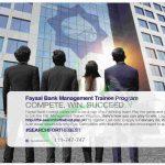 Faysal Bank Management Trainee Program 2018